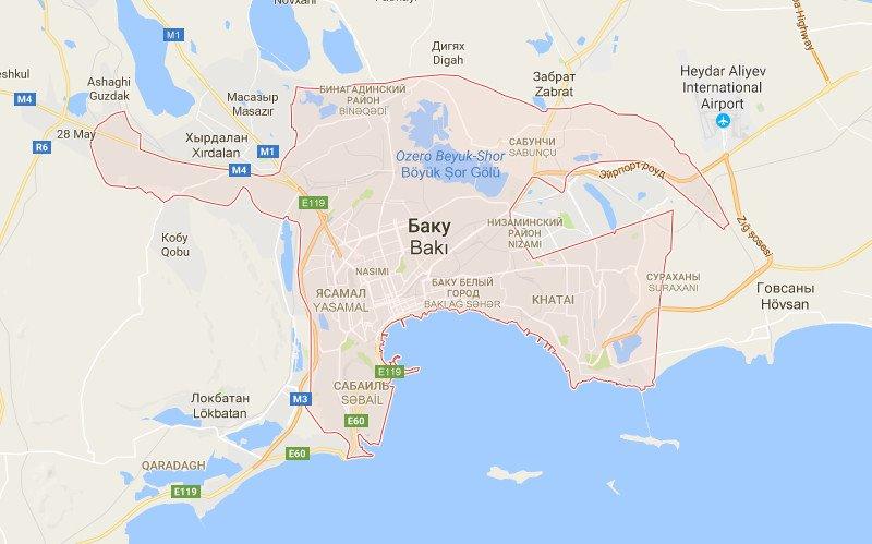 Карта Баку