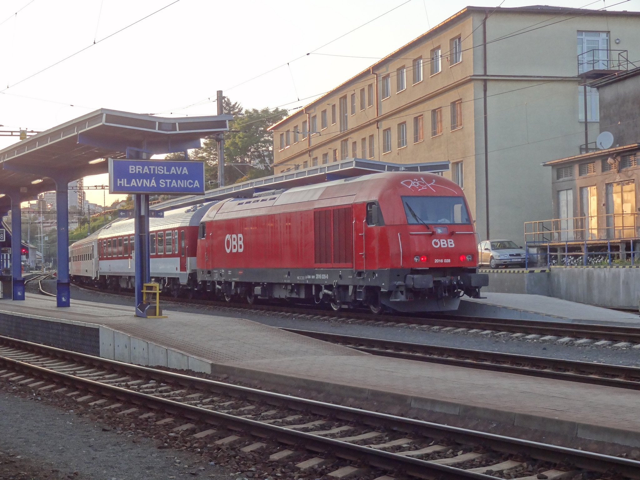 Поезд Братислава - Вена