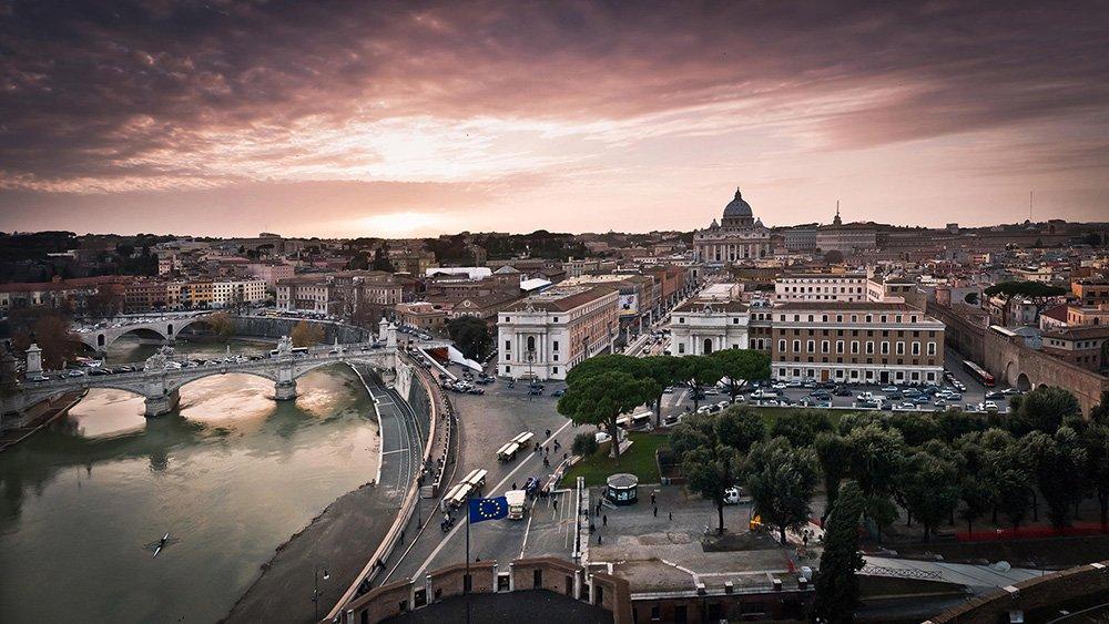 Вид Ватикана сверху