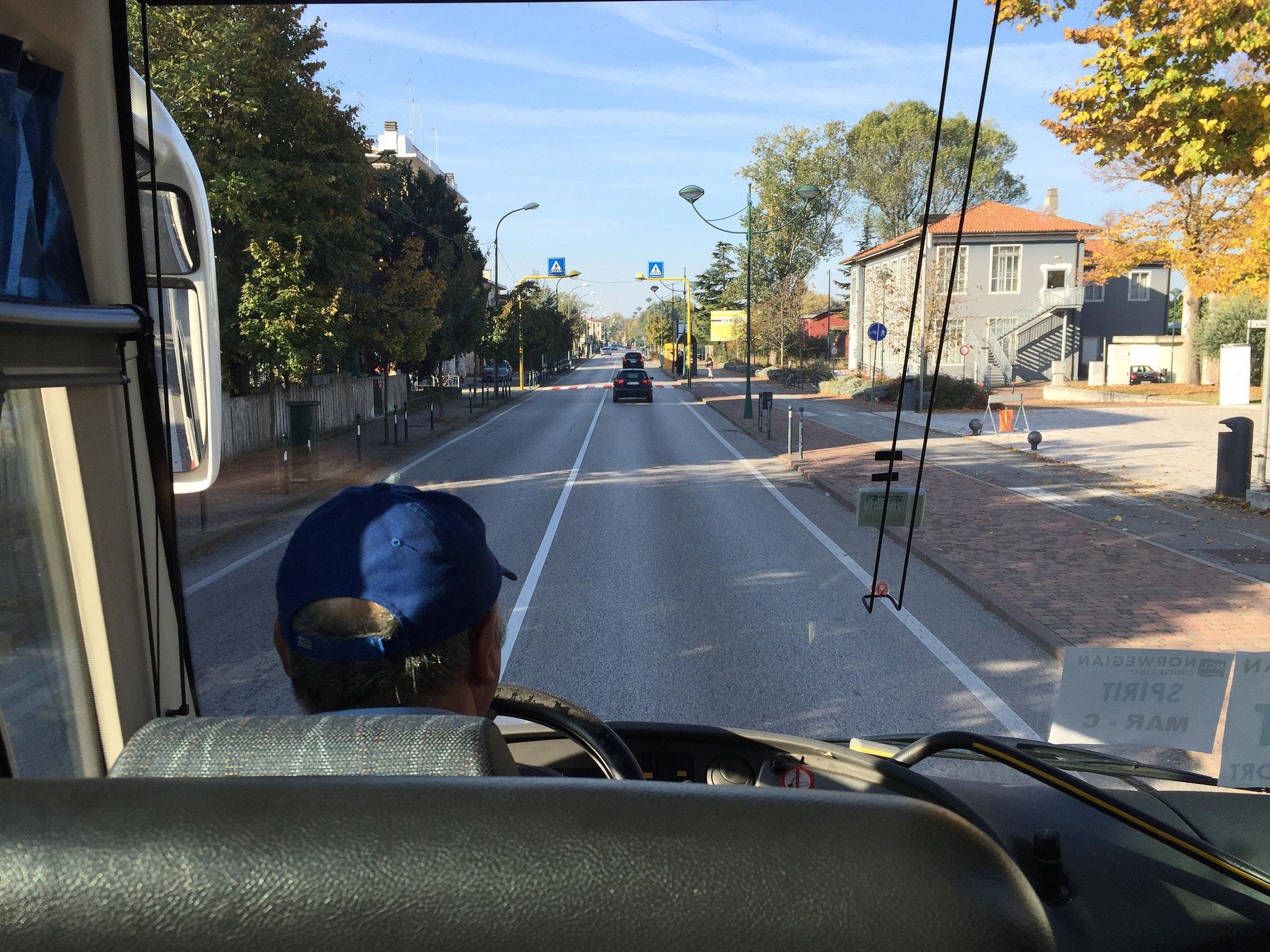 На автобусе в Венецию