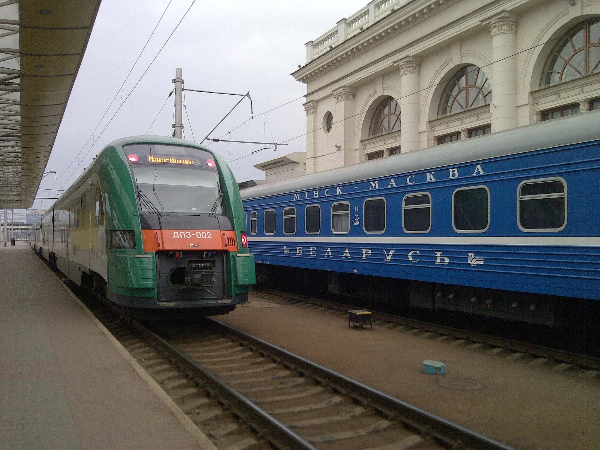 Поезд в Вильнюс