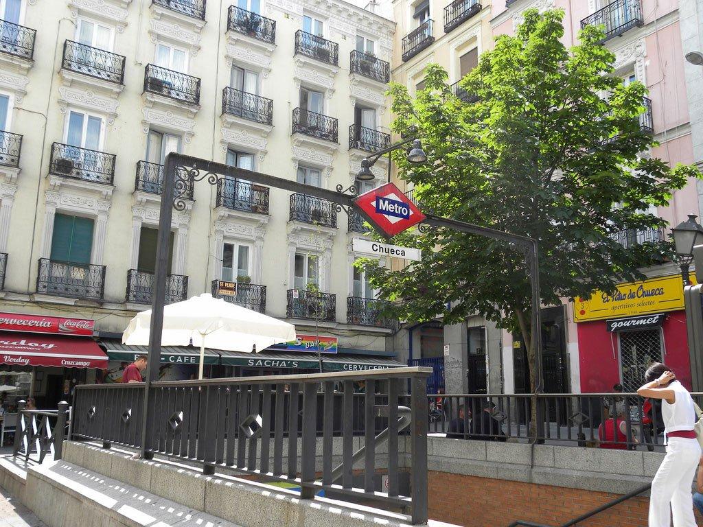 Вход в метро Мадрида