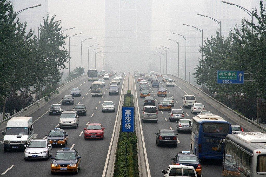 На машине в Гуанчжоу