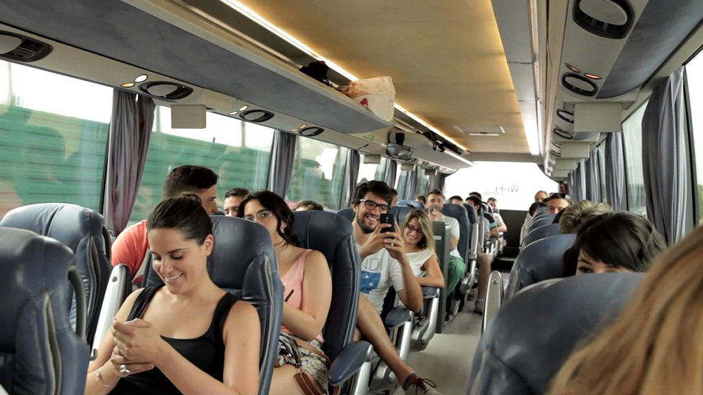 На автобусе в Мадрид