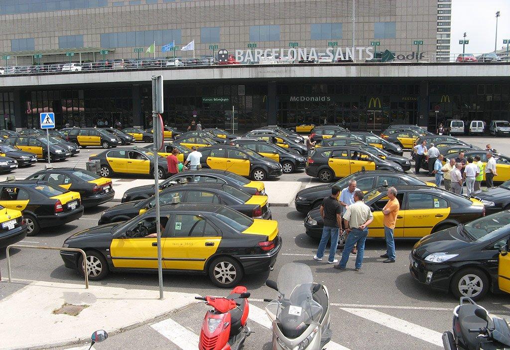 На такси из Барселоны