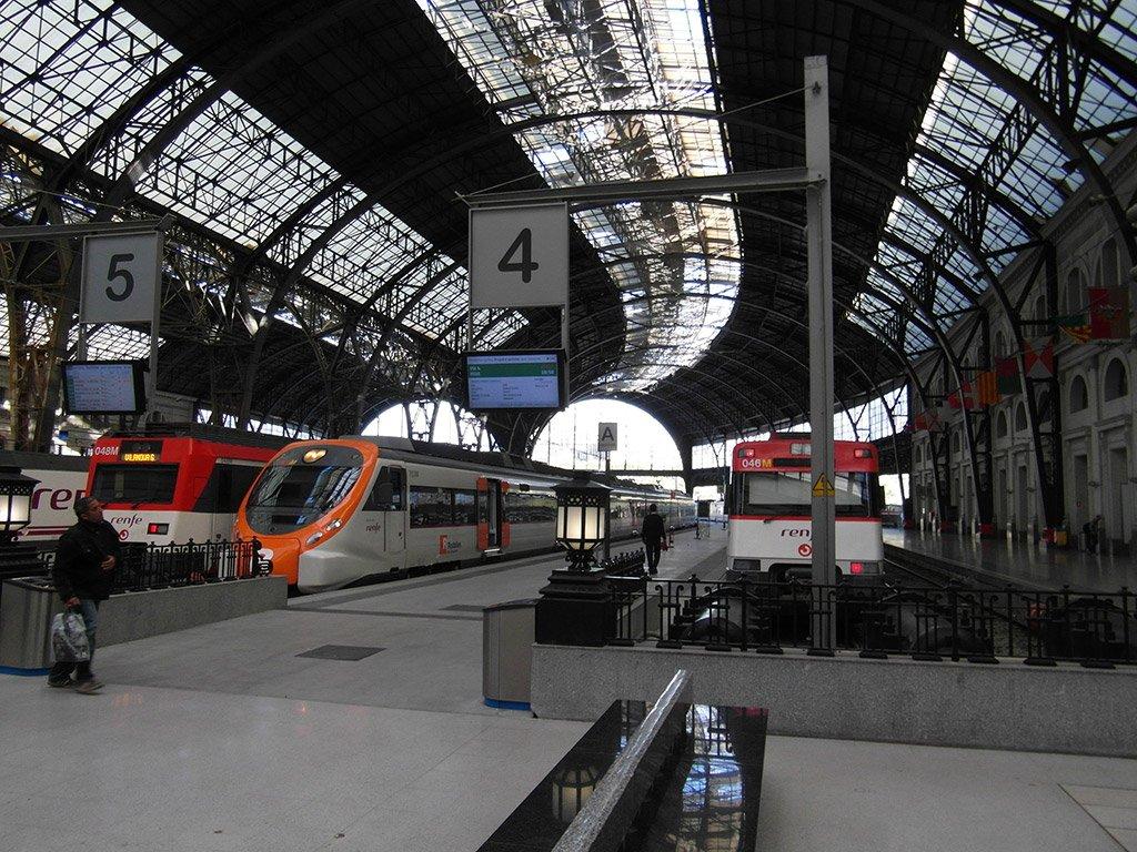 Вокзал в Барселоне