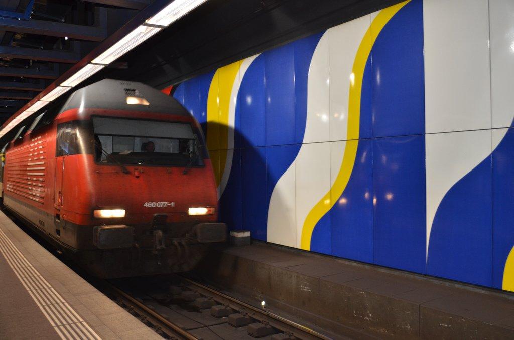 Поезд в центр Цюриха
