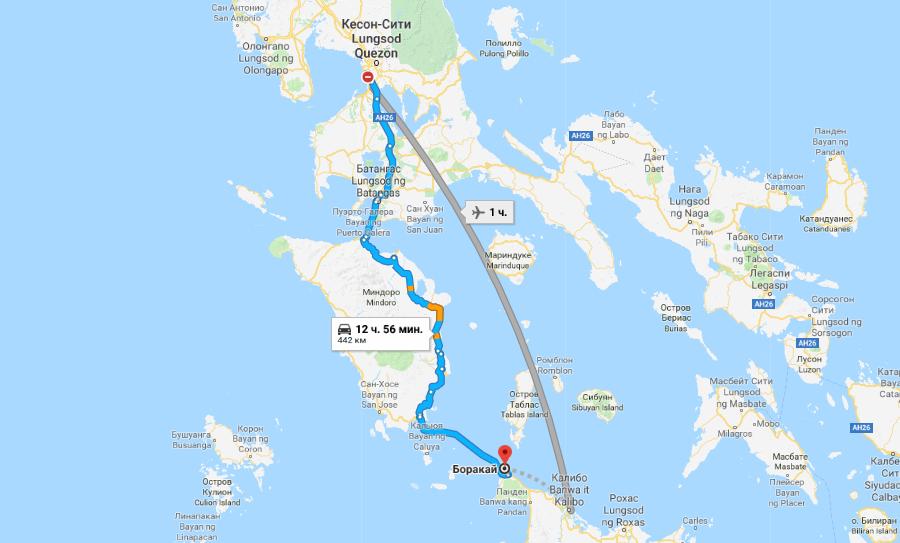 Маршрут на Боракай из Манилы