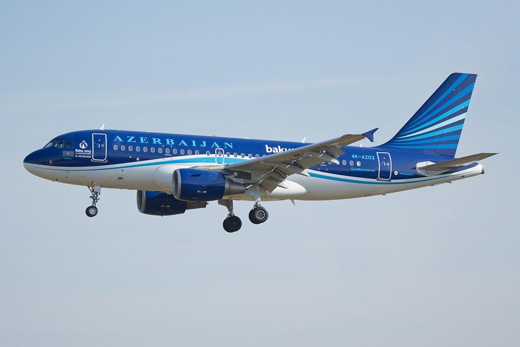 Самолет в Гянджу