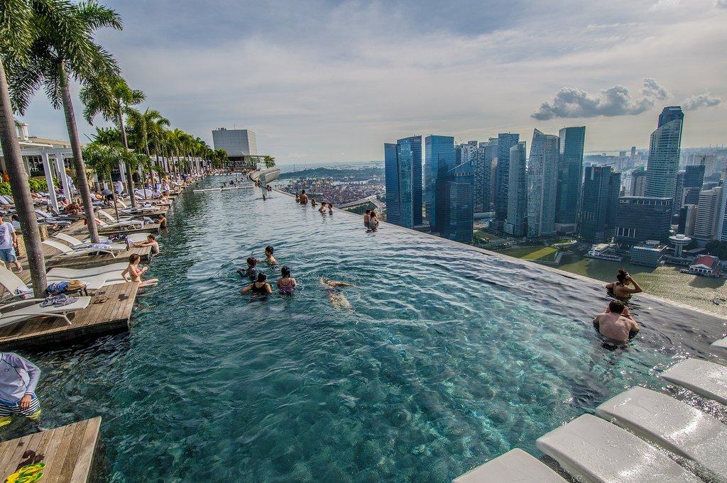 Вид с крыши бассейна