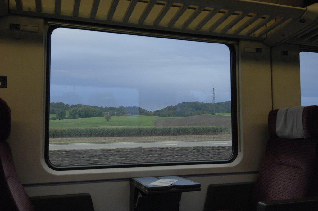 Вид из окна вагона
