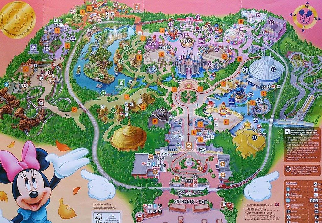 Карта Диснейленда