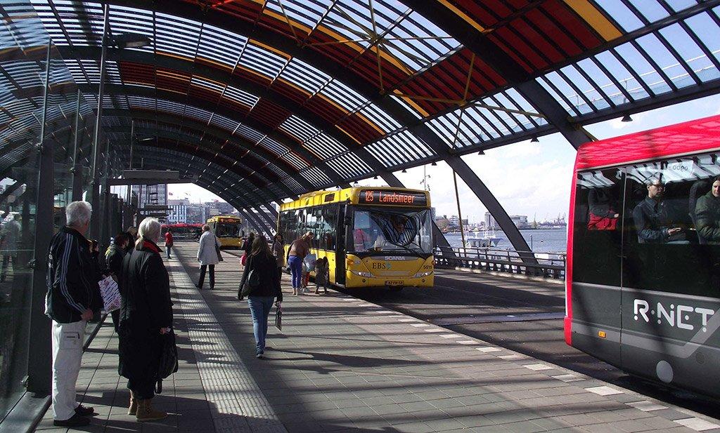 Автовокзал в Амстердаме