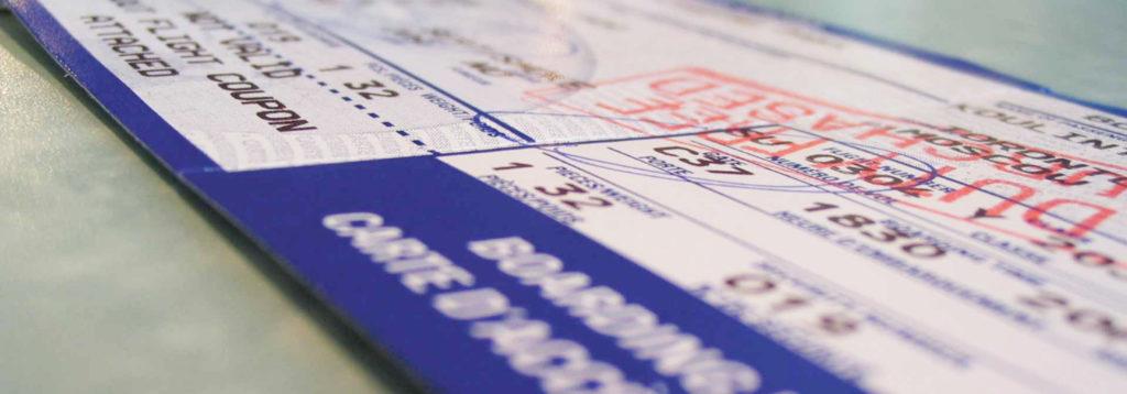 Ошибка в электронном билете на самолет