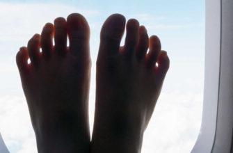 Почему отекают ноги в самолете