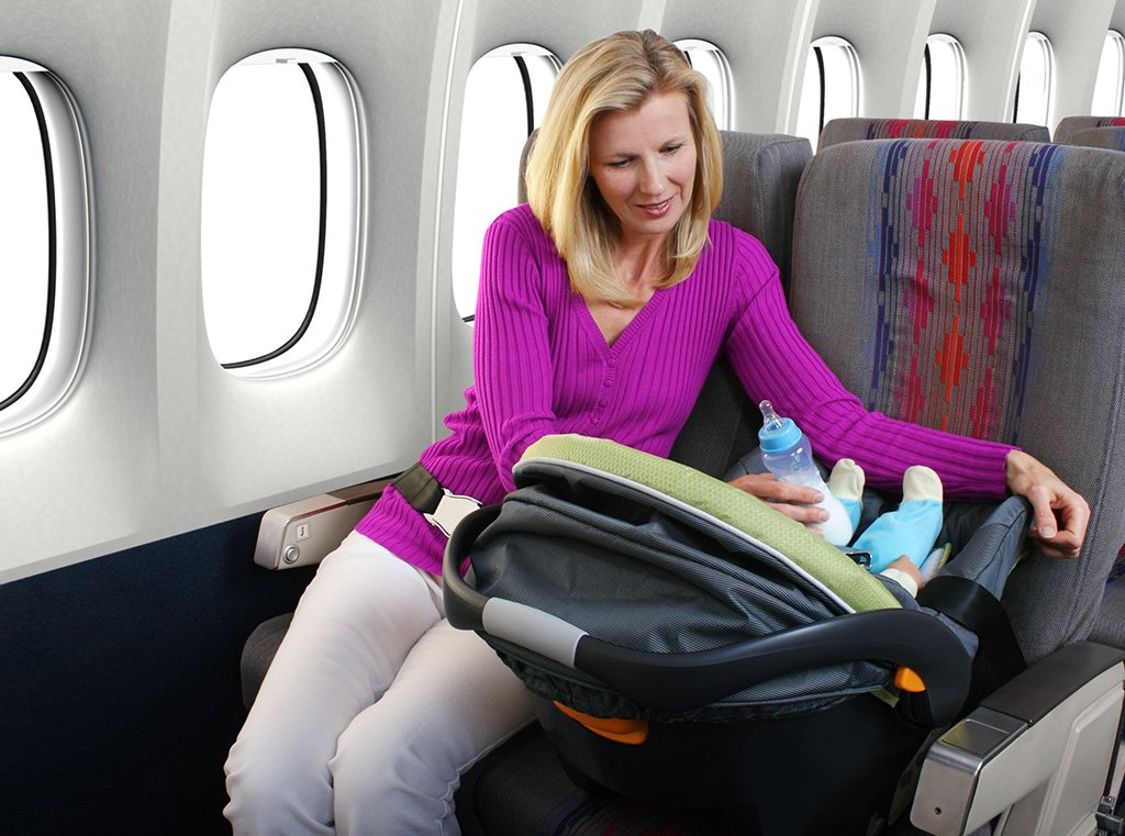 Коляска в самолете