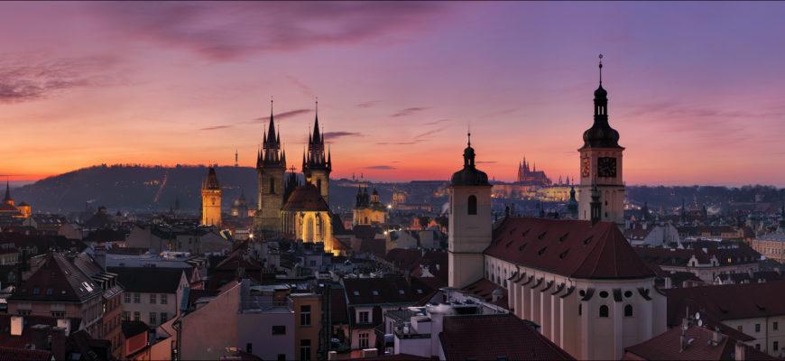 Прага - панорама