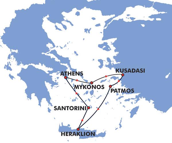 Пример круизного маршрута на 3 дня