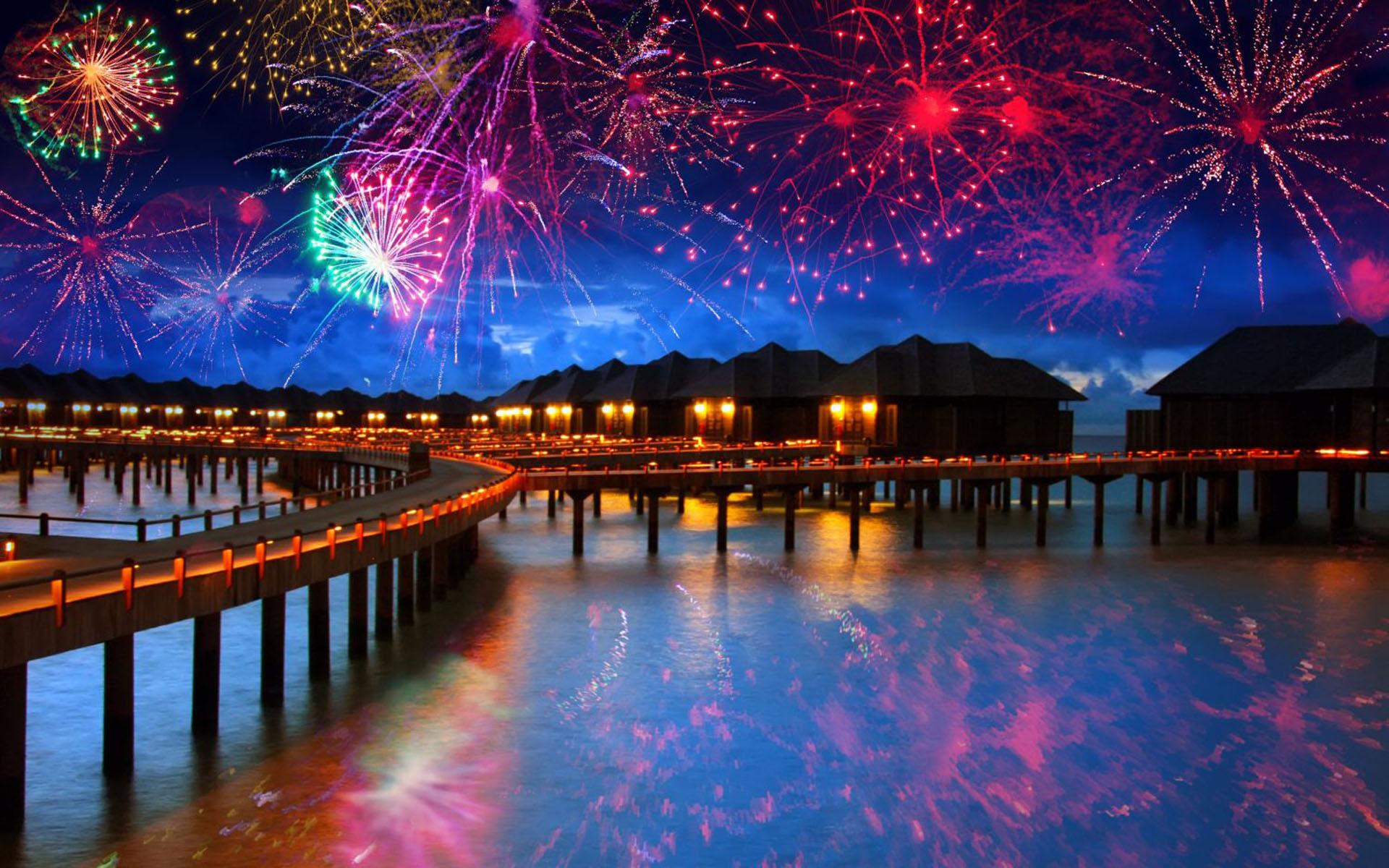 НГ на мальдивских островах