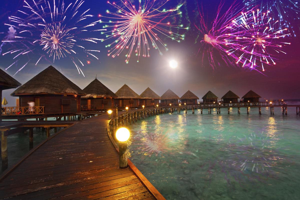 Празднование Нового Года на Мальдивах
